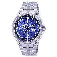 [リコー]RICOH 腕時計 SHREWD AMBITION(シュルード・アンビション) ソーラーエネルギーウォッチ アナログ表示 10気圧防水 ネイビー×ブルー 759001-51 メンズ