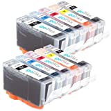 2 Compatible Sets of 5 HP 364 XL Printer Ink Cartridges - Black / Photo Black / Cyan / Magenta / Yellow for HP Photosmart 7510, 7510, B8553, C5380, C5383, C5390, C6300, C6380, D5460, D7560, C309, C309g, C309h, C309n, C310, C310a, C309a, C309c, C410b (Inc