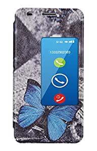 ZAPCASE Designer Double Sview Cover for Huawei Honour 6(Butterfly)