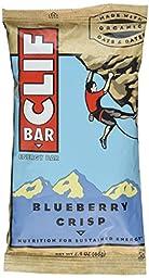 Clif Bar Energy Bar, Blueberry Crisp, 2.4-Ounce Bars, 12 Count