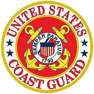 Amazon.com : United States Coast Guard Logo Aluminum Sign Round 12