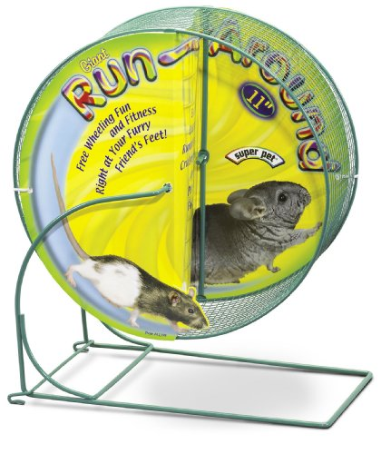 Super Pet Chinchilla 11-Inch Giant Run-Around Exercise Wheel, Colors Vary