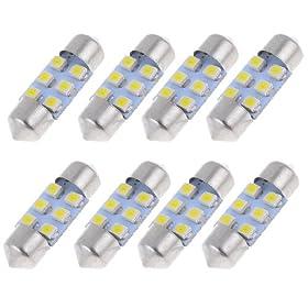 """8pcs 31mm 1.25"""" 1210 White SMD 6 LED Festoon Dome Light DE3175 DE3022"""