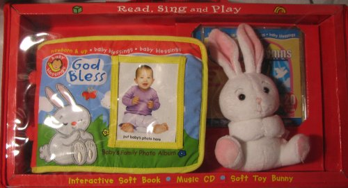 Baby Blessings Soft Book, Music Cd, And Toy Bunny