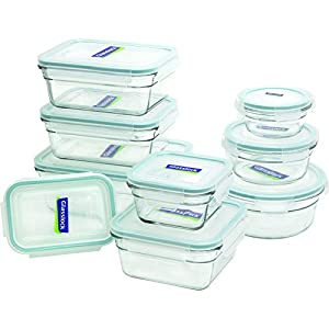 Amazon Com Glasslock 18 Piece Assorted Oven Safe