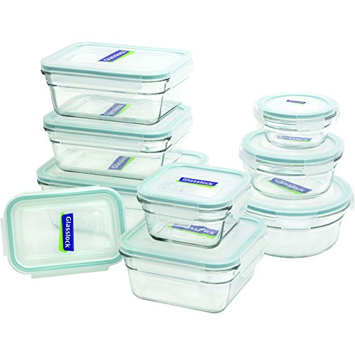 Glasslock 18-Piece Assorted Oven Safe Container Set (Glass Freezer Storage compare prices)