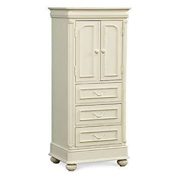 Charlotte 2-Door 4 Drawer Wardrobe - Antique White