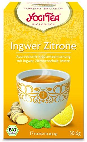 Yogi Tea Ingwer Zitrone Tee Bio, 3er Pack (3 x 31 g)
