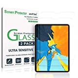 amFilm Glass Screen Protector for iPad Pro 11 inch (2 Pack), Tempered Glass, Ultra Sensitive, Face ID and Apple Pencil Compatible (Color: Clear)