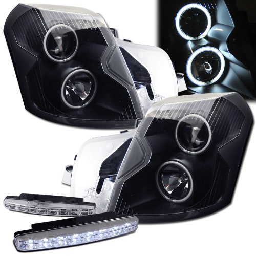 2004 Cadillac Cts Ccfl Halo Projector Headlights   8 Led