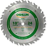 Oshlun SBW-100024 10-Inch 24 Tooth ATB Ripping Saw Blade with 5/8-Inch Arbor (Tamaño: 24 Tooth Ripping)