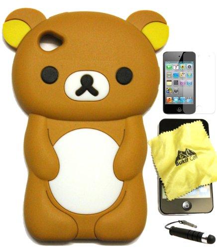 BUKIT CELL (TM) BROWN Bear 3D Cartoon Soft Silicone