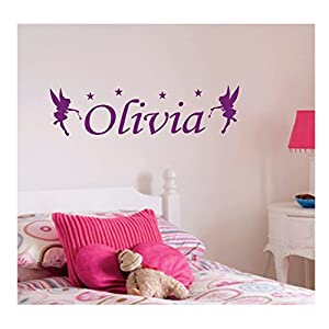 Personalised Fairy Wall Sticker, Any Name, Any Colour, Childs Bedroom.