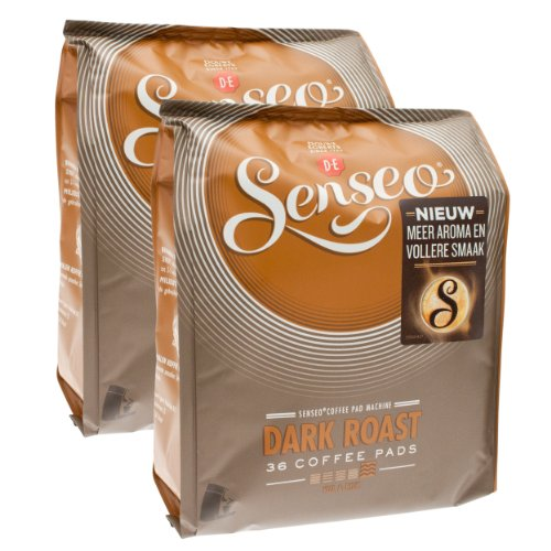 Find Senseo Dark Roast, New Design, Pack of 2, 2 x 36 Coffee Pods - Douwe Egberts