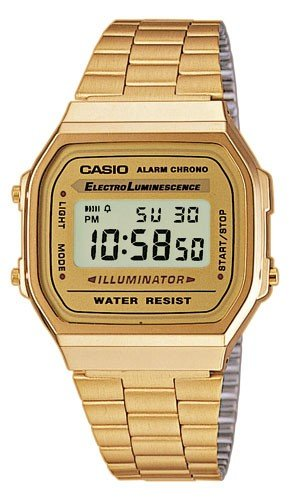 Casio Collection Unisex-Armbanduhr Digitaluhr Quarz A168WG-9EF
