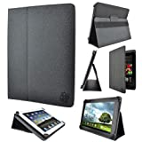 """Kozmicc Universal Tablet Case Cover 8.9"""" 9.7"""" 10"""" 10.1"""" Inch (Black) [Adjustable Stand Folio] by KOZMICC"""