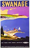 Vintage Poster Shop 1970's British Railways Swanage Dorset Railway Poster A3 Reprint