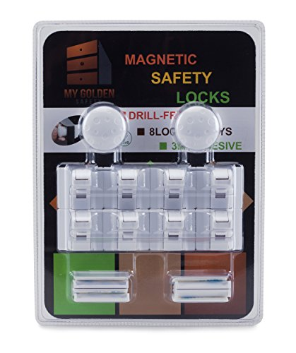 My Golden Safety Magnetic Safety Locks 8 2 Set For