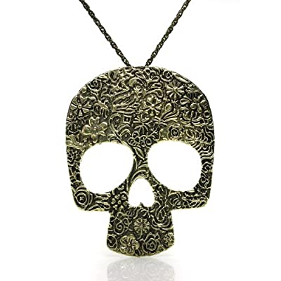 Fashion Vintage Big Skull Pendant With Chain Necklace from JewelrieShop