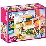 Playmobil - 5333 - Jeu de construction - Chambre des enfants avec lits décorés