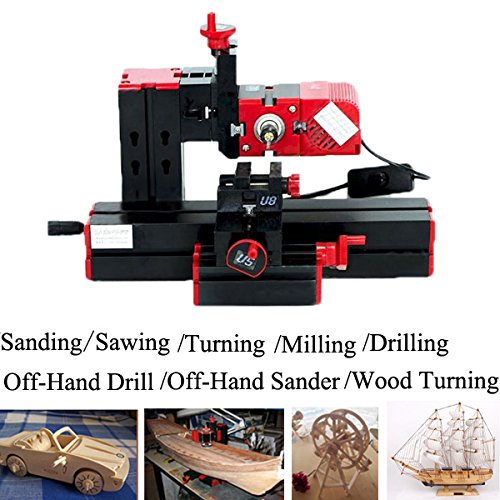 6 In 1 Multi Metal Mini Wood Lathe Motorized Jig-saw Grinder Driller (Mini Lathe Parts compare prices)