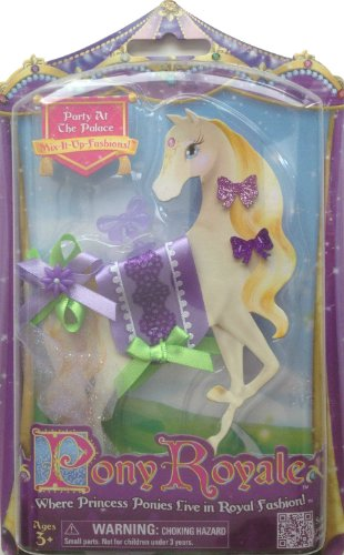 Pony Royale Party At The Palace Mix-It-Up Fashions - Purple Saddle and Butterflies with Green Ribbon Accents - 1