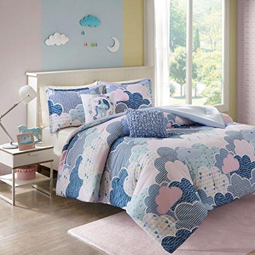 Urban Habitat Kids Cloud Full/Queen Comforter Sets for Girls - Blue,  Geometric, Unicorn – 5 Pieces Kids Girl Bedding Set – 100% Cotton Childrens  ...