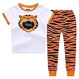 "CNBABY ""The Rant Tiger"" Toddler Boys Short Sleeve Pajama Set (4 Toddler)"