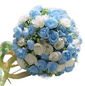 BluoFairy Beautiful Artificial Flowers Wedding Bouquet