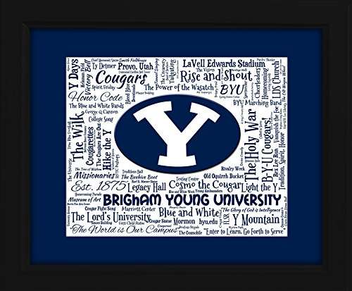 brigham-young-university-byu-16x20-art-piece-beautifully-matted-and-framed-behind-glass