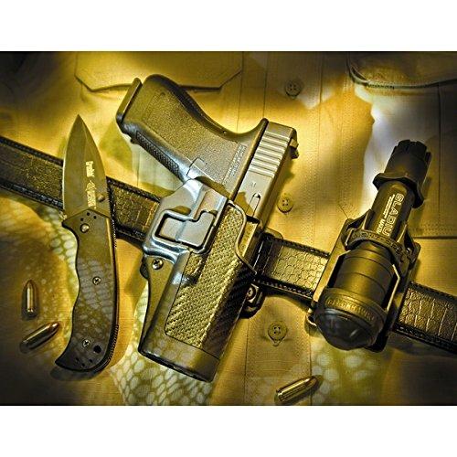 BLACKHAWK! Serpa CQC Carbon Fiber Appliqué Finish Concealment Holster, Size 41, Right Hand, (Ruger SR9 with Applique)
