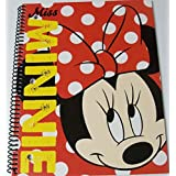 "Disney Minnie Mouse Designed By Minnie College Ruled Spiral Notebook ~ Miss Minnie (8"" X 10.5""; 70 S"