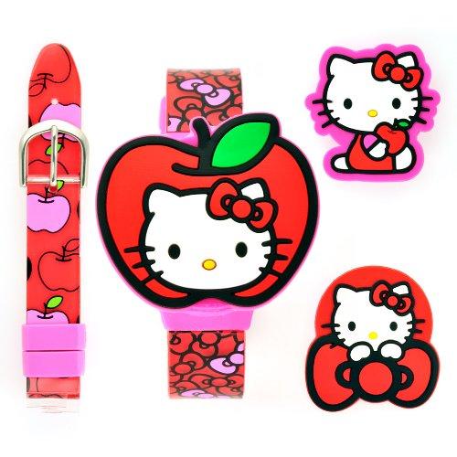 Hello Kitty Kids' HK1456 Interchangable Strap and FlipTop WatchSet
