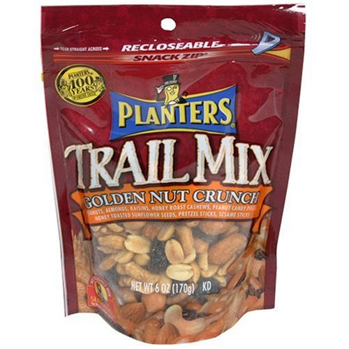 Buy Planters Trail Mix, Golden Nut Crunch, 6-Ounce Pouches (Pack of 12) (Planters, Health & Personal Care, Products, Food & Snacks, Snacks Cookies & Candy, Snack Food, Trail Mix)