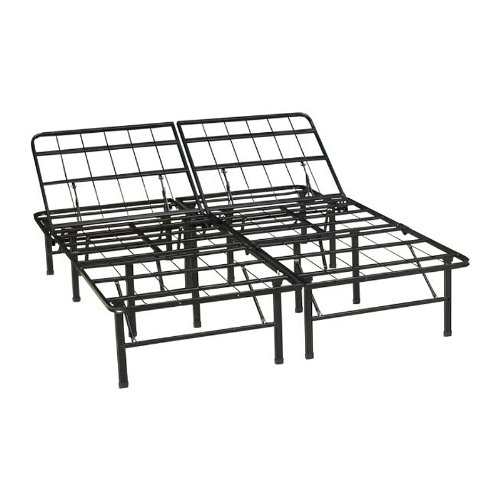 Classic Brands Adjustable Heavy Duty Metal Bed Frame/Mattress Foundation Or Box Spring, Queen Size front-9398