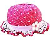 Ama-ZODE para niños de niña del corazón-diseño con la forma de los niños diseño de flores Pop Gate de la colmena tapas flor sobre puesta de sol sombreros de fiesta de Rosa y rojo Talla:pequeño