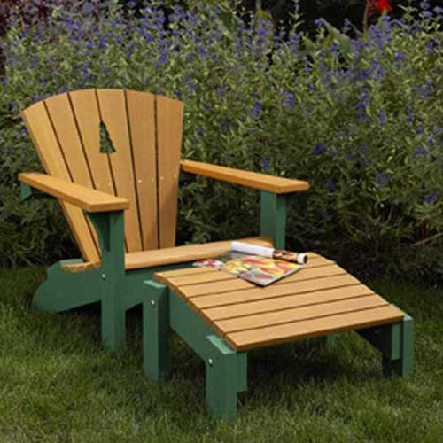 Adirondack Chair & Footstool: Downloadable Woodworking Plan