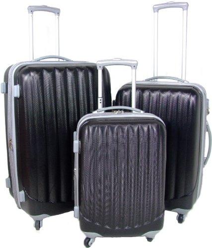 SCHWARZ 3 tlg. Reisekofferset (76/65/54cm Boardcase)
