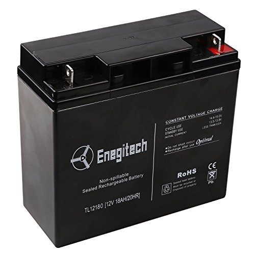 Enegitech 12 V 18 Ah 20HR Sealed Lead Acid Rechargeable ES 2500 Booster Pack ES1217 Portable Jump Starter Battery (Zoom Energy Pack compare prices)