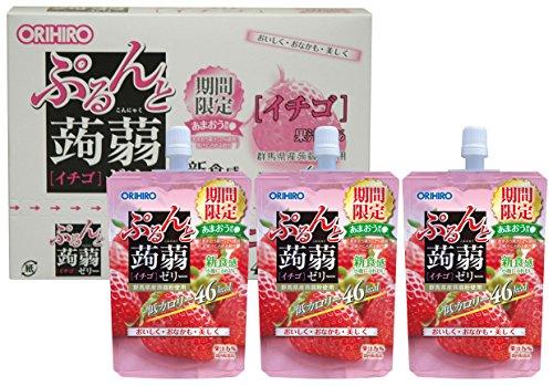 オリヒロ ぷるんと蒟蒻ゼリー イチゴ 130g×8個