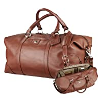 SHSU Cutter & Buck Brown Leather Weekender Duffel 'SH Paw Official Logo Debossed' by CollegeFanGear