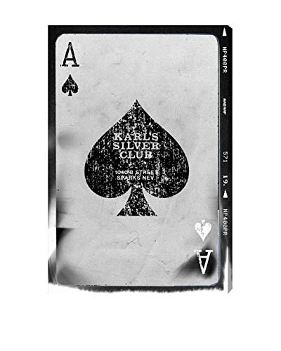 Oliver Gal Ace of Spades Reversed Canvas Art