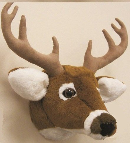 wall mount deer head stuffed animal toys moose decor home fun kids gifts ebay. Black Bedroom Furniture Sets. Home Design Ideas