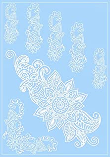 buy Henna Body Tattoos White Lace Floral Design Hand Arm Cover Up Temporary Tattoo