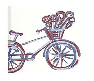 Amazon.com: E By Design La Bicicleta Geometric Print Outdoor Wall Art