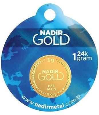 Nadir Rundbarren, Nadir Goldbarren 1 Gramm, Gold 1g , LBMA Zertifiziert Mit Hologramm