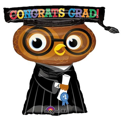 Congrats Grad Owl 26in Balloon