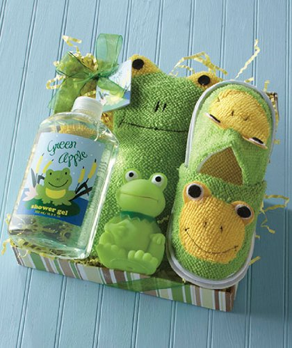 Kids' Frog Bath Slipper Set - 1