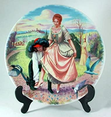 Limoges Cendrillon plate - Quellier's Morals of Perrault - Cinderella plate by Quellier - CP1253