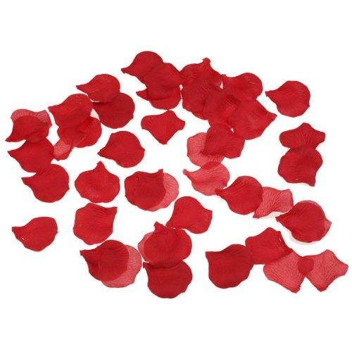 1000 Red Silk Rose Petals
